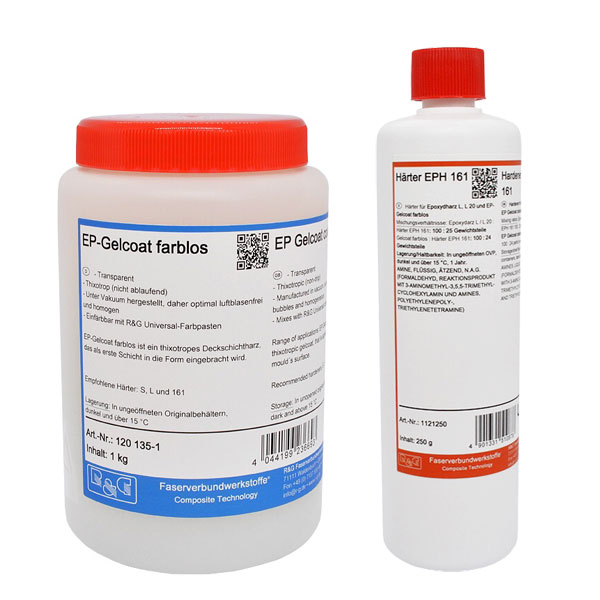 product image: EP-Gelcoat colourless + Hardener EPH 161 (90 min)