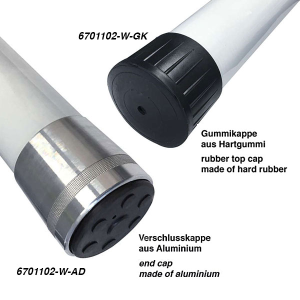 Caps for the Fibreglass Telescopic Pole 12 5 m, white