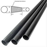 product image: Carbon fibre tubes (tapered)