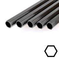 product image: Carbon hexagonal tubes pultruded, inside round (16.0 / 13.0) (remainder)