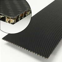 product image: Carbon fibre sheets with aramid honeycomb core, T 3.5 mm