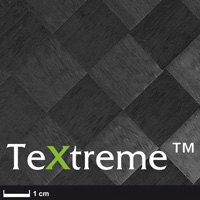 product image: TeXtreme® Carbon fabric 80 g/m² (plain, ± 45 °) 100 cm