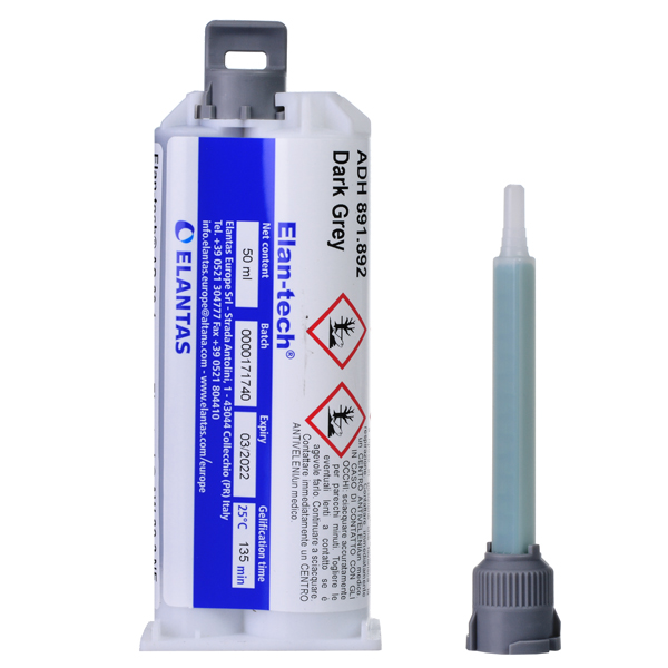 product image: Elan-tech® ADH 891.892 NF Epoxy adhesive (dark grey), 50 ml