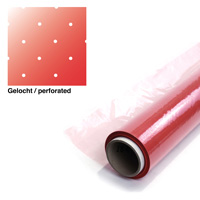 product image: Bagging film RED perforated (P3), 122 cm