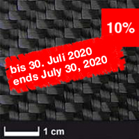 product image: Carbon fabric 600 g/m² (twill) 100 cm