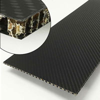 product image: Carbon fibre sheets with aramid honeycomb core, T 5.5 mm
