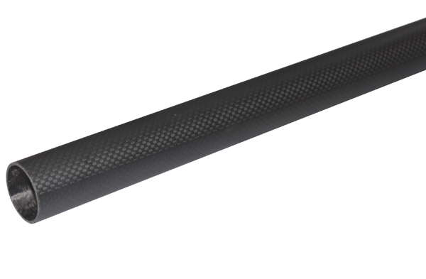 product image 1: Carbon fibre tubes wound, plain weave (3k) matt painted