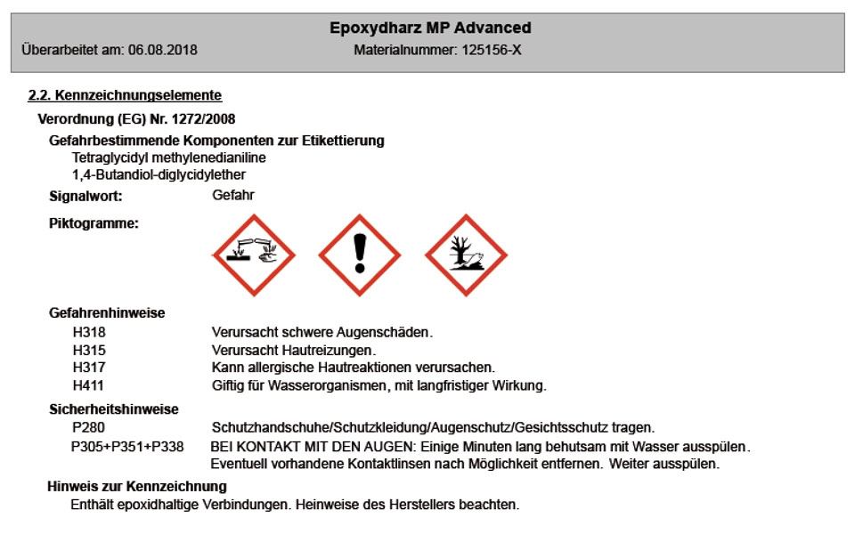Artikelbild 1: Epoxidharz MP Advanced + Härter MP Advanced