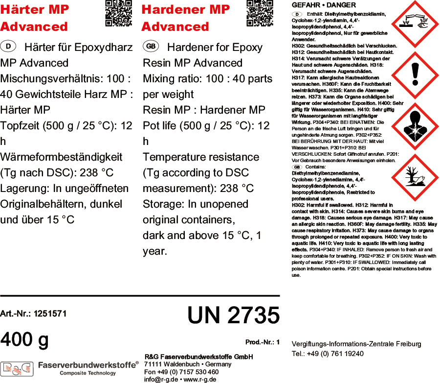 product image 3: Epoxy Resin MP Advanced + Hardener MP Advanced