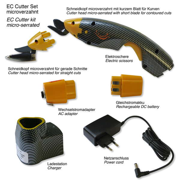product image 1: EC-Cutter kit with mirco-serrated cutter heads