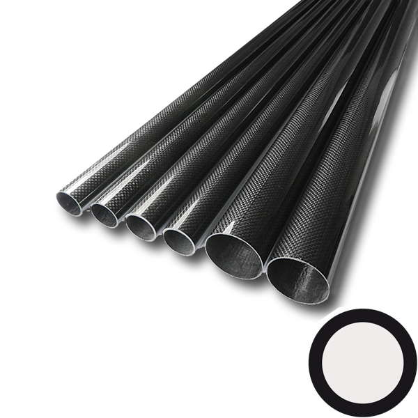 product image 2: Carbon/ Kevlar round tube wound, plain weave (3k)