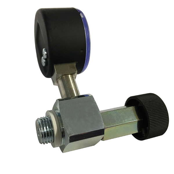product image 1: Fine adjustment valve with vacuum gauge for vacuum pumps