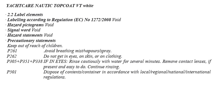 product image 3: YC NAUTIC TOPCOAT VT (white), 1 kg