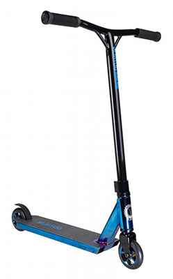 Silver Chrome Blazer Pro Scooters Outrun FX Complete Stunt Scooter