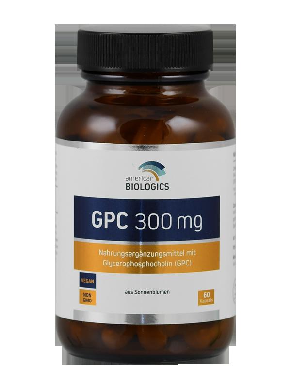 alpha-GPC 300 mg von American Biologics, aus Sonnenblumenlecithin