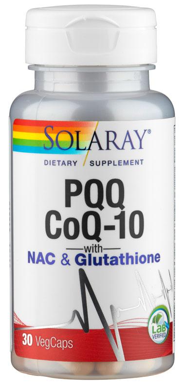 PQQ, CoQ10 + Glutathion: kombiniert antioxidativ, von Solaray