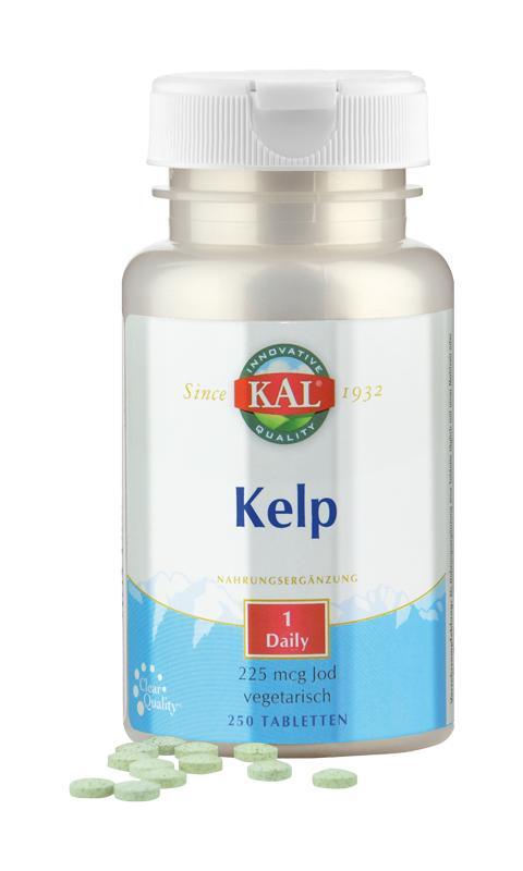 Kelp-Algen mit 225 mcg Jod von KAL